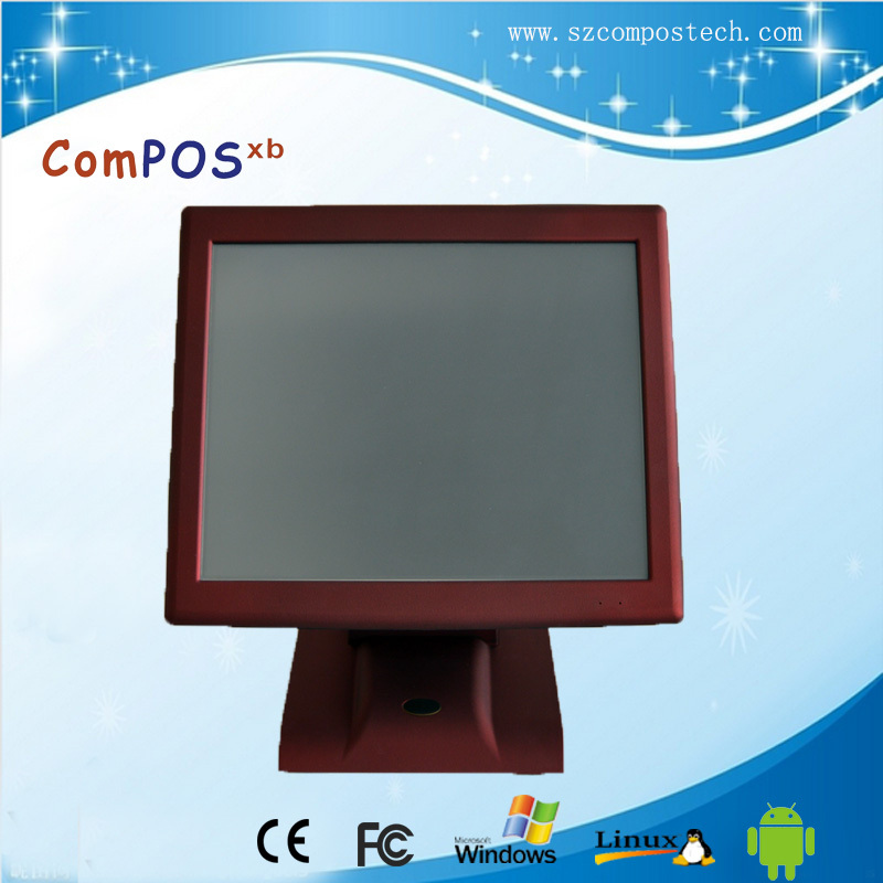 Hot Selling Red 15 Inch All In One PC Touch Screen POS System POS2119R With VFD Customer Display For Shopping best selling products good quality monitor display pos computer all in one pc stand or bracket
