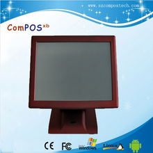 Hot Selling Red 15 Inch All In One PC Touch Screen POS System POS2119R With VFD Customer Display For Shopping