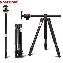 SAMTIAN profesjonalnego przenośna kamera statyw 61 cal przenośny podróży System poziome statyw do Canon Nikon Sony DSLR SLR