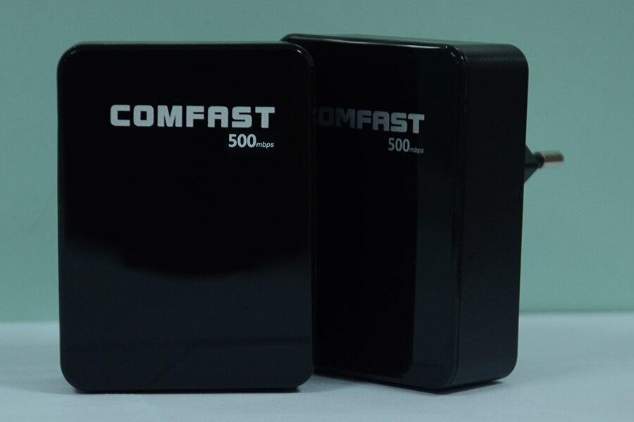 4 stücke 500 mbps comfast powerline adapter mit eu stecker adapter ethernet...