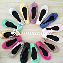 Free shipping! Foldable ballerina shoes after party wedding favor slippers( China) 082e83064655