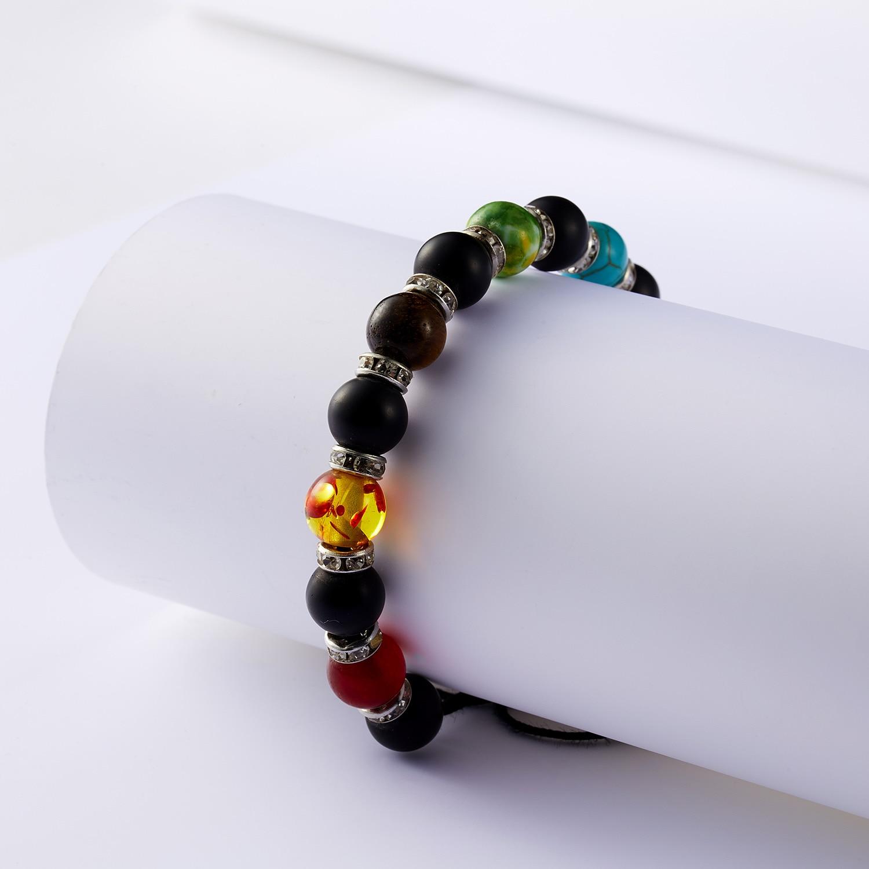 Classic Chakra 8mm Lava Stone Beads 7 Color Chain Bracelets for Women Men Elastic Rope Yoga Fashion A Bracelet Friendship 15