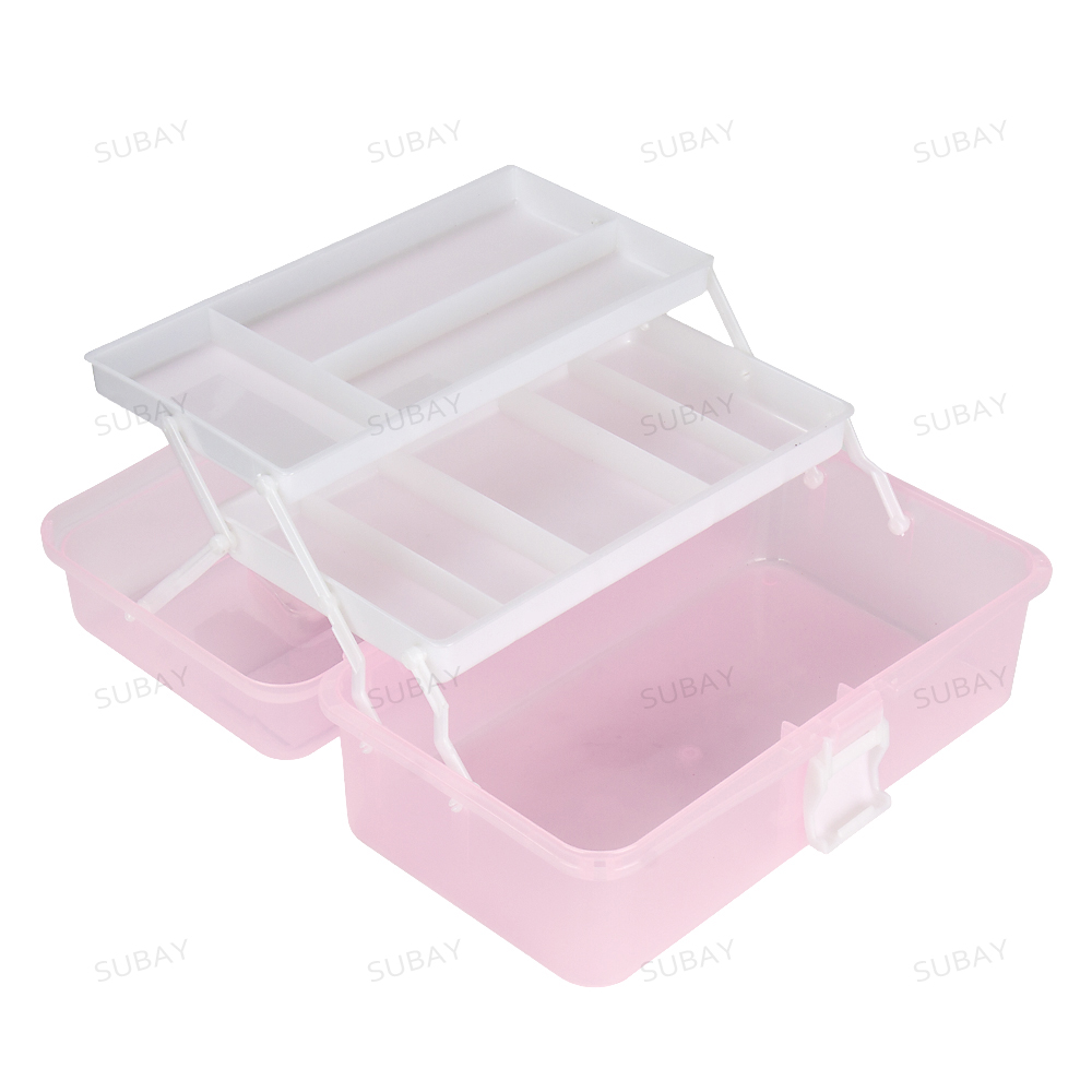 New 2017 Fashion Nail Art Tool Box Multi Utility Storage 3 Layer Plastic Case Makeup Craft Manicure Salon Kit Accessories  nail art box 3 layer multi utility storage case professional manicure kit nail tool makeup box large size