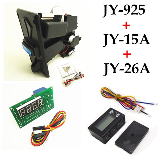 JY-925+JY-15A+JY-26A coin operated time control device for cafe kiosk, multi coin selector with timer board and reset counter цифровая видеокамера jvc jy hm360e jy hm360e