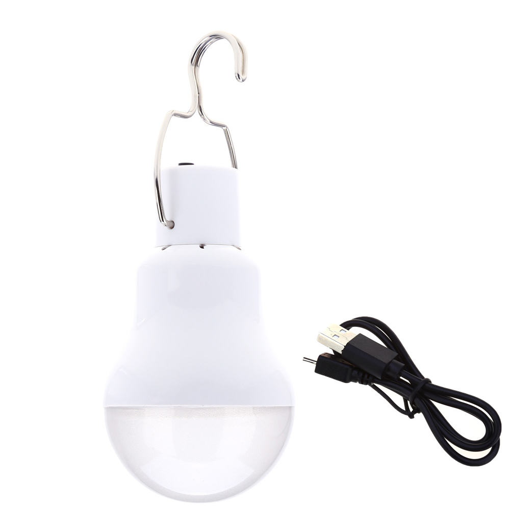 1.2W USB Rechargeable LED Bulb Over-discharge Protection Energy Saving LED Lamp Rechargeable Camping Hiking LED Bulb USB
