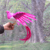 About 30x50cm Foam Feathers Long Tail Spreading Wings Phoenix Bird Handicraft Home Garden Decoration Gift A1779
