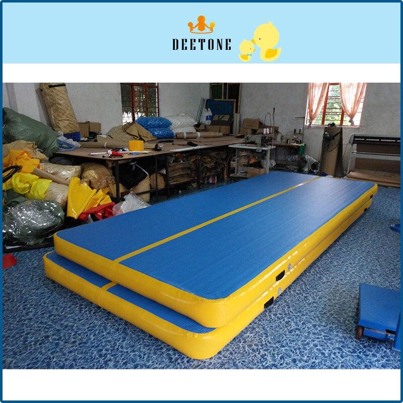 200 cm * 600 CM 1 set tapis gonflable de gymnastique de Taekwondo de piste d'air de Trampoline de voie de dégringolade gonflable