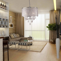 CSS 40cm Modern Contemporary Crystal Light Ceiling Lamp Chandelier Lighting