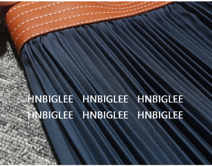 Pista Color Alta De Diseñador 2019 Goodlishowsi Nueva Cintura Verano Faldas Midi Plisada Cuero Irregular Borde Algodón Falda dpwBBq