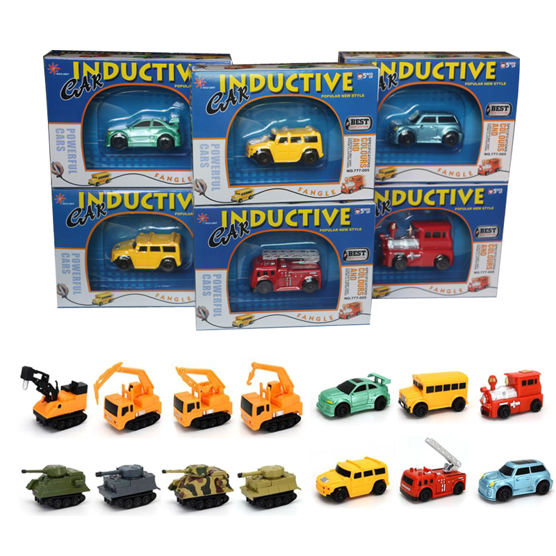 Enlighten Hot Sale 1 Piece Magic Toy Truck Inductive Car Magia Excavator Tank Construction Cars Truck Vehicles Toy Free Shipping hot wheels sport car toy plastic track vehicles kid toys hot sale hotwheels cars track x2586 multifunctional classic boy toy car