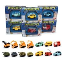 Enlighten Hot Sale 1 Piece Magic Toy Truck Inductive Car Magia Excavator Tank Construction Cars Truck
