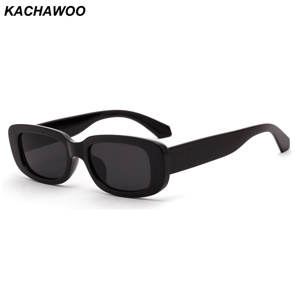 Kachawoo Retro Rectangle Sunglasses Men Black Leopard Summer Male Sun Glasses For Women 2019 Fashion Droshipping
