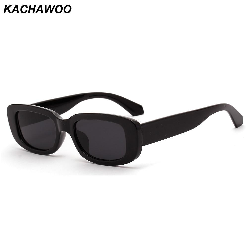 Kachawoo Retro Rectangle Sunglasses Men Black Leopard Summer Male Sun Glasses For Women 2019 Fashion Droshipping