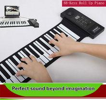 Hot New USB MIDI 88 Keys Silicon Hand Roll Up Piano Electronic Organ Synthesizer musical instruments Keyboard Digital Piano
