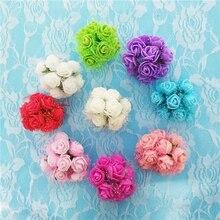 144pcs 2cm Mini Foam Rose Artificial Flowers Cheap Bouquet Multicolor Wedding Flower Decoration Scrapbooking Fake