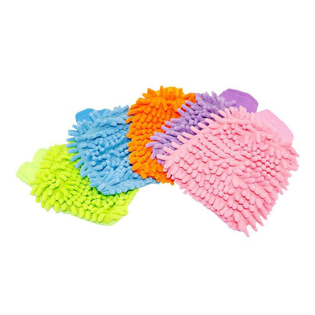 Chenille Superfine Fiber Single-sided Cleaning Car Gloves Cleaning Rags Coral Car Wash Tools Car Wash Paws