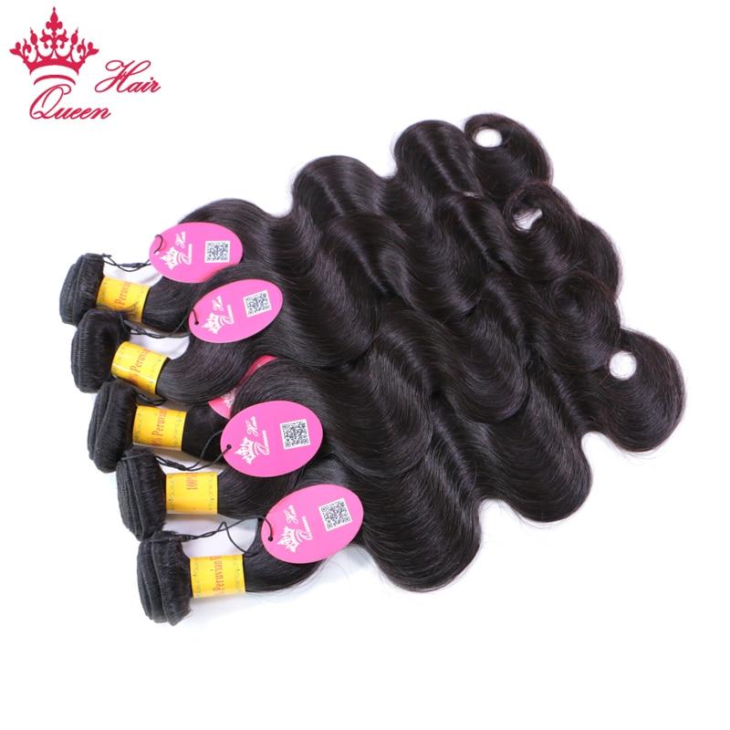 Peruvian Body Wave Bundles Deal 3st / lot 100% Remy Human Hair Weave - Mänskligt hår (svart) - Foto 3