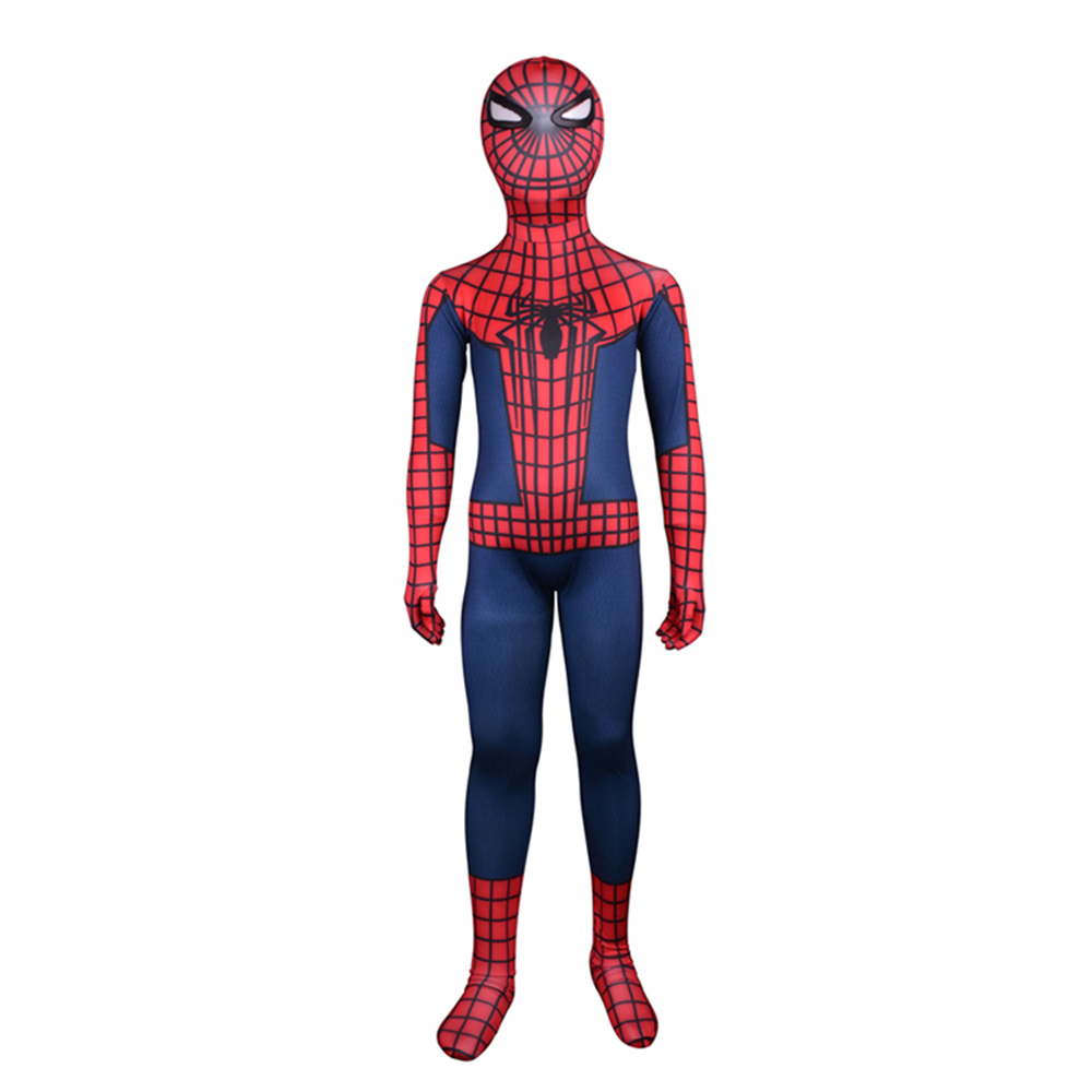 kids spider man costume classic piderman cosplay costume amazing halloween costume party cosplay clothes full body - Kids Spider Halloween Costume