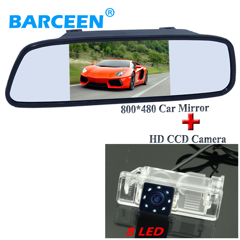 Use for car parking 5 universal car mirror with 8 led rainproof car rear reversing camera adapt for Benz Viano Vito