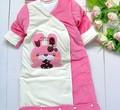 Новая мода горячей продажи ребенка спальный мешок Толстый бархат спальный мешок