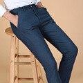 Брюки новый корейский мода мужская свободного покроя твердые хлопок флис мыжской прямые брюки осень новое поступление люди уменьшают 5 цветов