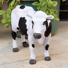 simulation 30x20cm cow  toy polyethylene & furs dairy cow model decoration gift t197