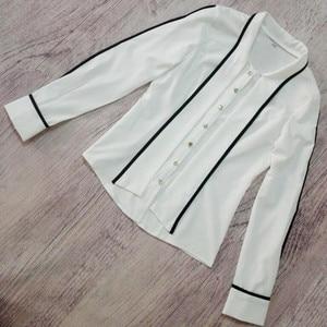 Image 5 - Naviu Neue Mode Frauen Tops und Blusen Blusas Mujer De Moda 2019 Chiffon Hemd Büro Damen Formale Arbeit Tragen