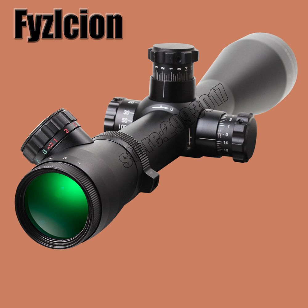 Fyzlcion Hunting Optical Mark 4.5 -14x50 Rifle Scope M1 Riflescope Mil-Dot Glass Etched Reticle Illuminated Top Quality