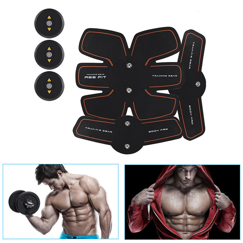 New Smart EMS Stimulator Training Fitness Gear Muscle Abdominal Exerciser Toning Belt Abs Fit Muscles Massager Machine XNC