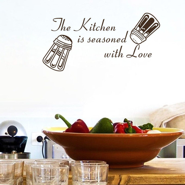 Diy Wall Decals The Kitchen Is Seasoned With Love Quote Wall