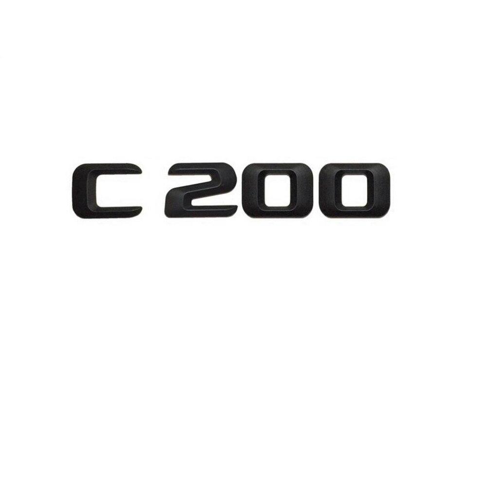 Matt Black  C 200  Car Trunk Rear Letters Word Badge Emblem Letter Decal Sticker for Mercedes Benz C Class C200