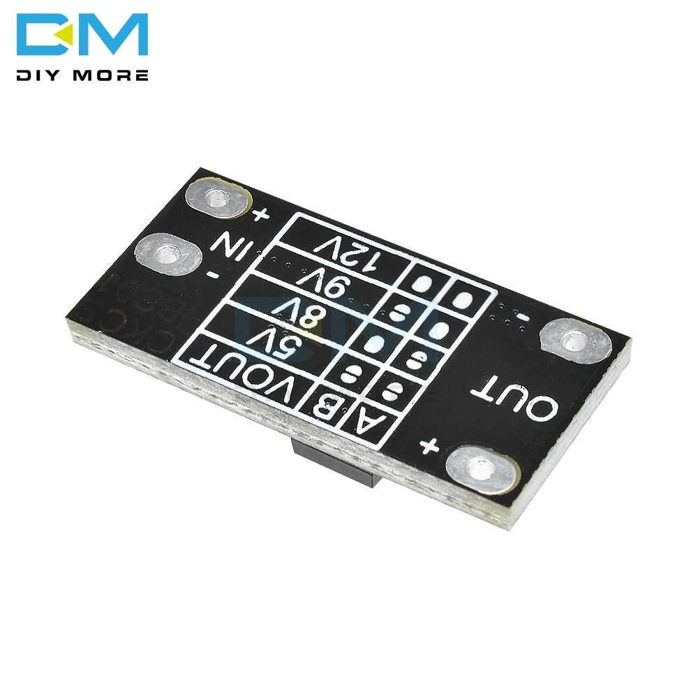 5 قطعة أحدث متعددة الوظائف دفعة صغيرة وحدة تصعيد مجلس 5 فولت/8 فولت/9 فولت/12 فولت 1.5A مؤشر LED لتقوم بها بنفسك وحدة الجهد الإلكترونية