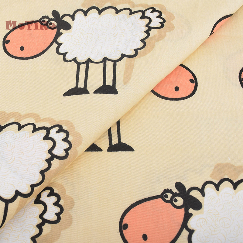 MoTiRo, Printed Twill Baumwollgewebe Für Meter, Gelbe Schafe Muster ...