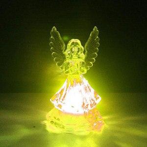 Image 2 - יפה לילה אורות מלאך אקריליק צבעוני לילה אור עבור בית המפלגה חתונת קישוט מנורות ילדי מתנת אור