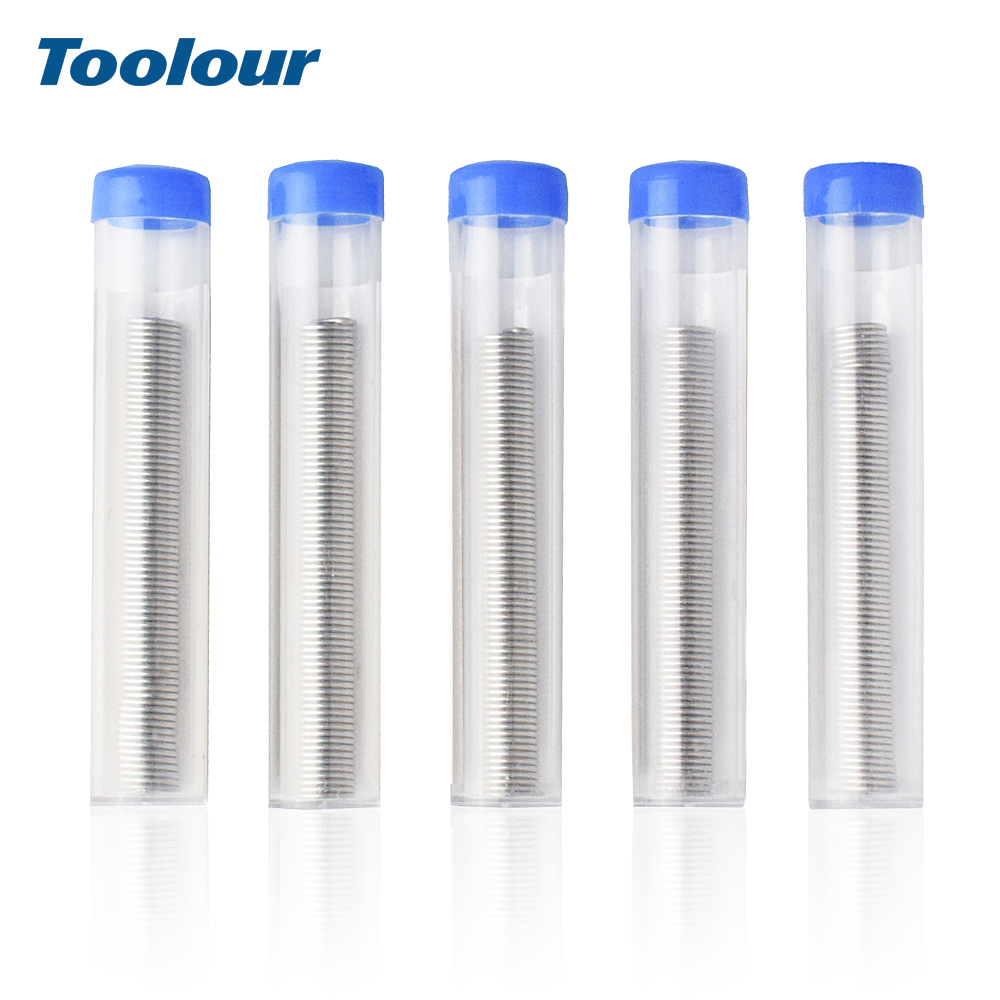 Toolour 5pcs/lot 1mm Tin Lead Solder <font><b>Wire</b></font> Tube Flux <font><b>40</b></font>/<font><b>60</b></font> with Flux Rosin Core for Welding PCB Work <font><b>Soldering</b></font> Accessories Tools image