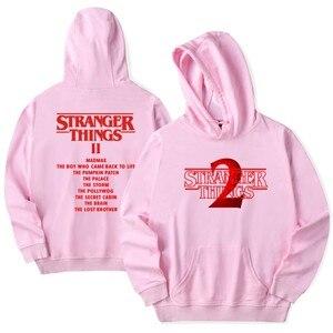 Image 4 - Stranger Dingen Hoodie 2019 Nieuwe Hot Tv Amerika Sweatshirt Millie Bobby Bruin Hoody Mannen Hip Hop Casual Mode Truien