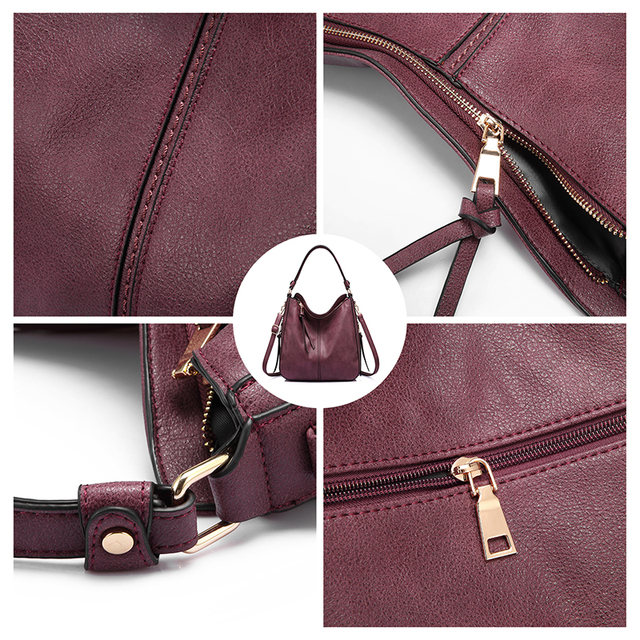 REALER women handbags female Crossbody shoulder bags high quality PU leather messenger bags for ladies big Totes large capacity 3