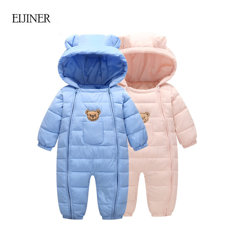 Thick warm Infant baby rompers Winter clothes Newborn Baby Boy Girl Romper Jumpsuit Hooded Kid Outerwear Boys Girls Jumpsuit newborn baby rompers baby clothing 100% cotton infant jumpsuit ropa bebe long sleeve girl boys rompers costumes baby romper