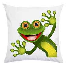 Cute Cartoon Animal Frog Beetle Penguin dinosaur Cotton Polyester Throw Pillow Cushion Cover Car Home Decor Pillowcase CR010