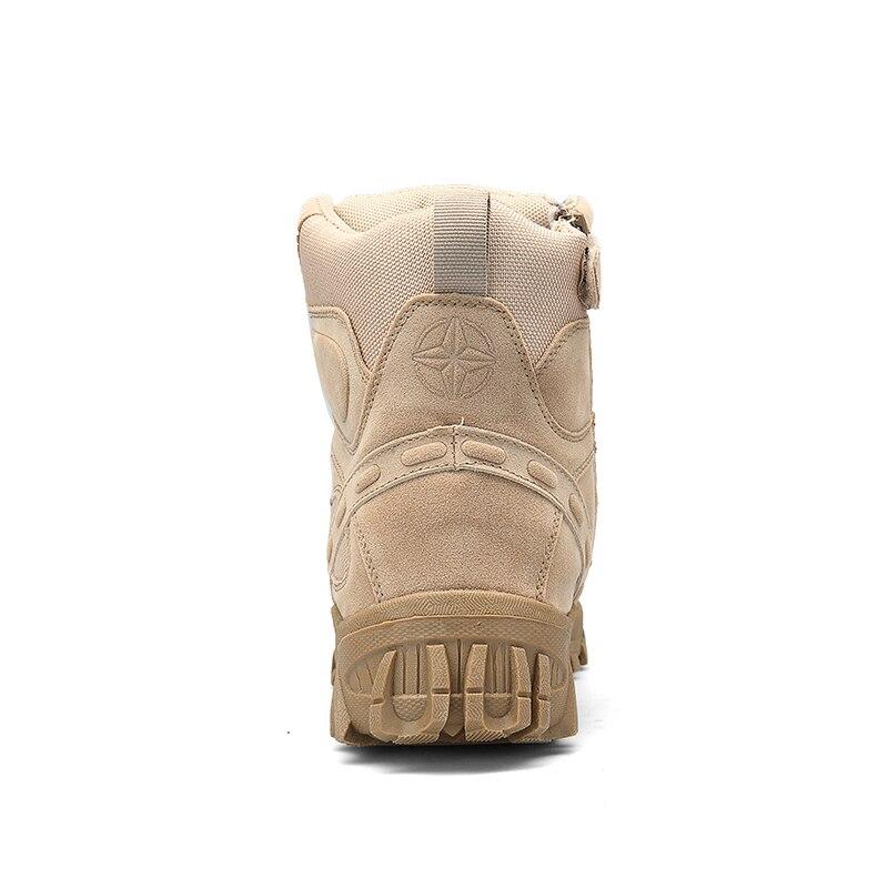 Marque Grande Serein Bot Black Chaussures De Botte Armée Sécurité Moto sandy Cheville Mens Hommes Boots Militaire Boots Chukka Tactique Bottes Combat Taille Nouveau gwdrId