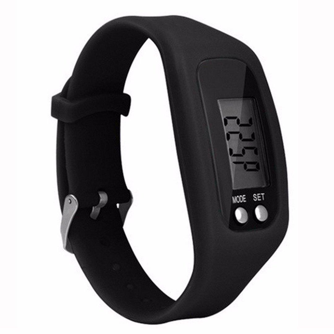Mayitr Women And Men Run Step Wristband Bracelet Pedometer Calorie Counter Digital LCD Walking Distance Silicone Wrist Band