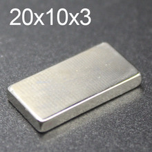цена на 5/10/20/50 Pcs 20x10x3 Neodymium Magnet 20mm x 10mm x 3 N35 NdFeB Block Super Powerful Strong Permanent Magnetic imanes