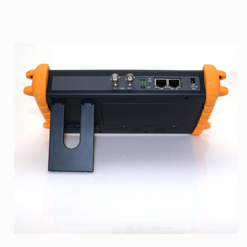 7 inch HD camera tester CCTV tester monitor IP TVI CVI AHD analog camera tester Wifi PTZ ONVIF support 12V2A POE output HDMI