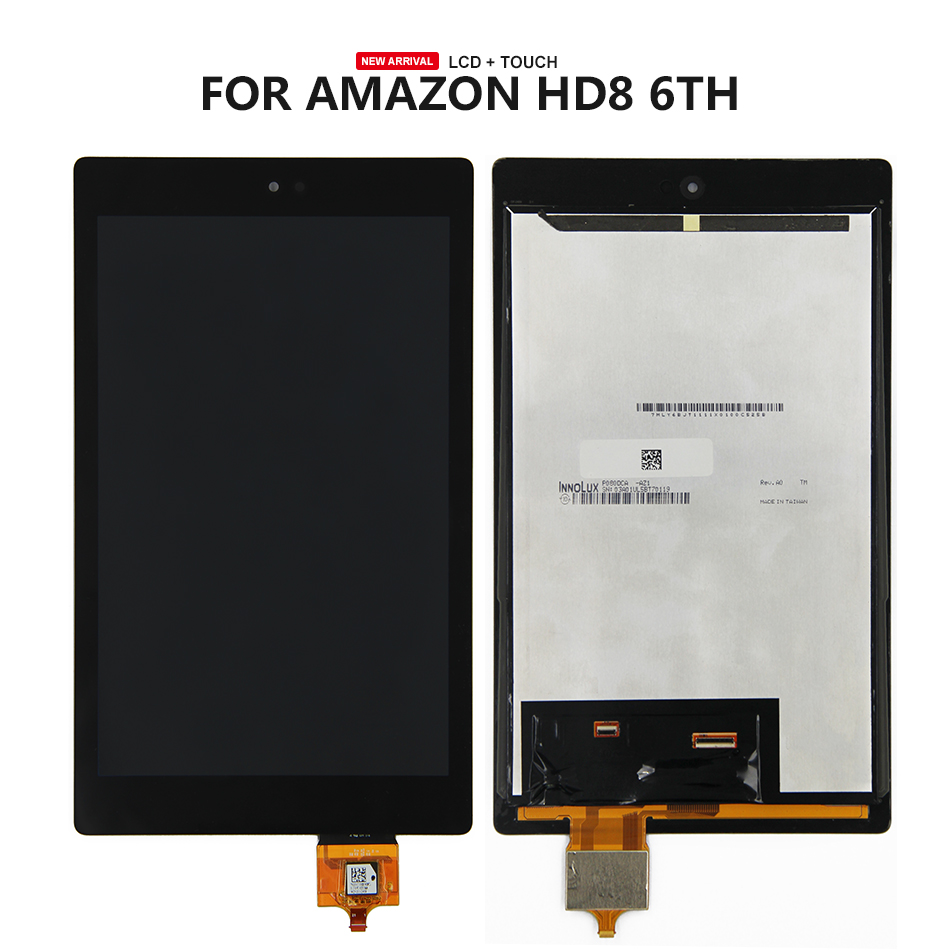 For Amazon Kindle Fire HD8 2016 HD 8 6th Gen PR53DC LCD Display Touch Screen Digitizer Glass Assembly