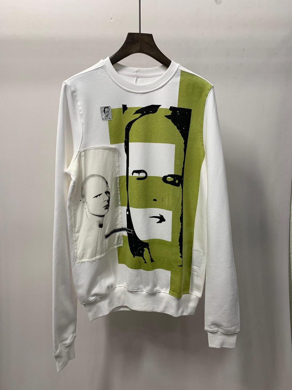 19ss Owen seak hommes sweat à capuche en coton Sweatshirts gothique surdimensionné vêtements pour hommes automne solide blanc Hoodies chemise de fond