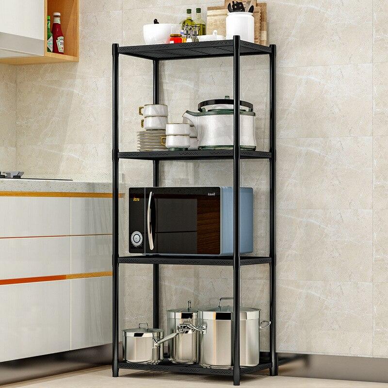 4 couches de stockage en métal Rack multifonction cuisine organisateur étagère maison luxueux plaque micro-ondes titulaire