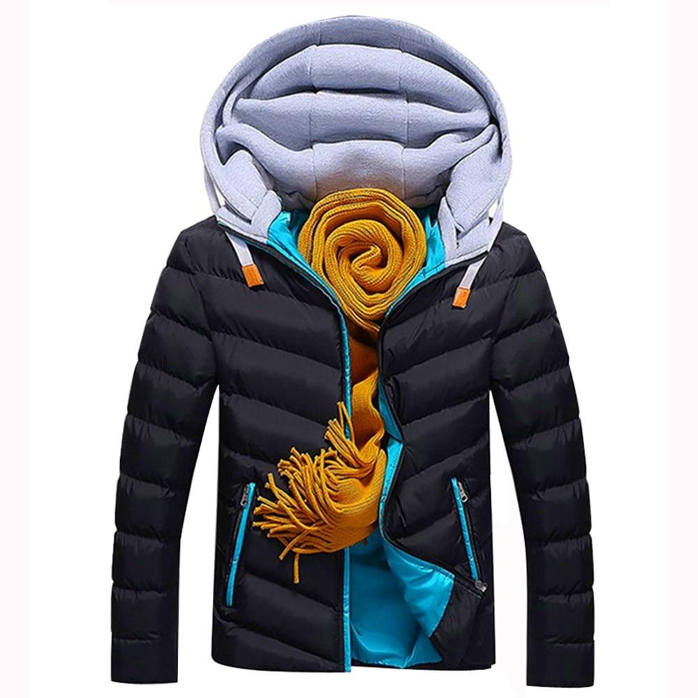 100% Wahr Jaycosin 2018 Winter Wattierte Herren Parker Warme Dicke Baumwolle Mantel Mode Männer Jacke Jugend Jungen Windjacke Graben Mantel