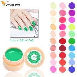 Venalisa 5 ml weiß jar Reine Farbe nail art gel Lack Gel Tipps DIY Dekoration CANNI Fabrik Preis Malerei LED & UV Gel farbe