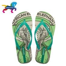 Hotmarzz Womens Fashion Cartoon Print Flip Flops Thong Sandals Ladies Summer Beach House Flip-flop Home Slippers Xmas Gift