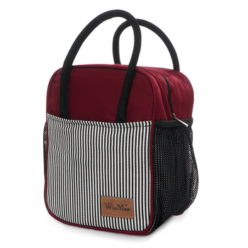 Winmax Brand Stripe Thermos Lunch Bag Large Thermal Lunch Box Women Office Food Fresh Keep bag Cooler Ice Insulated Lunch Box джемпер fresh brand fresh brand fr040ewdfpn2